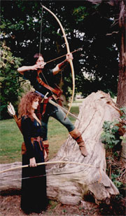 Golden Eagle Archers, Robin Hood and Maid Marion